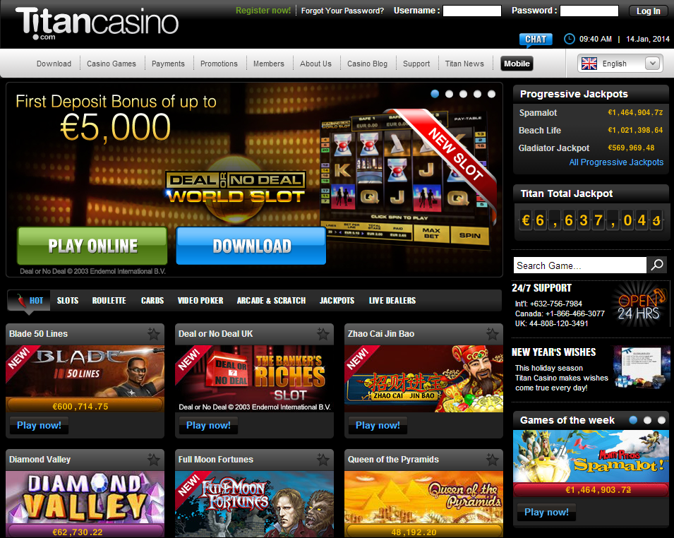 Titan Casino Auszahlung