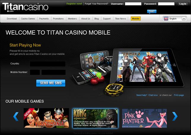 Titan Casino Mobile